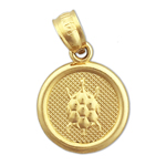 14k gold seven wishes health charm