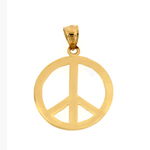 14k gold peace sign pendant
