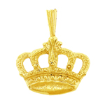 14k gold crown charm pendant