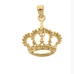 14k gold majestic crown charm