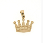 14k gold crown charm