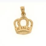 14k gold king crown charm