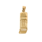 14k gold 3-d cell phone charm