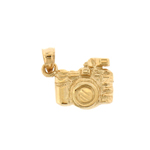 14kt gold camera charm