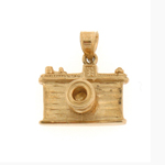 14kt gold 3-d camera charm