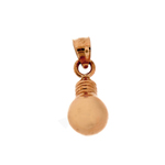 14kt gold light bulb charm
