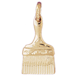 14kt gold paint brush charm