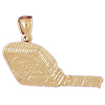 14k gold tape measure charm