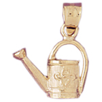 14k gold gardening water can charm