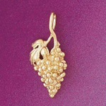 14k gold bunch-of-grapes charm