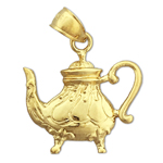 14k gold antique teapot charm