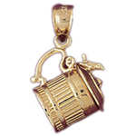 14k gold 3d tea sugar bowl charm