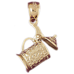 14k gold 3-d sugar bowl charm