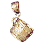 14k gold 3d coffee mug charm