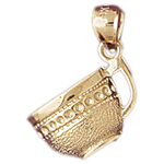14k gold coffee mug charm
