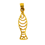 14k gold cut-out fish charm