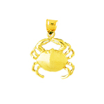 14 kt gold crab charm