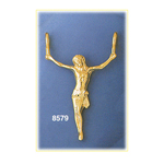 14k gold jesus body crucifix pendant