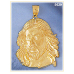 14kt gold jesus christ face pendant