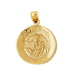14k gold saint michael charm