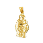 14kt gold saint joseph with baby jesus charm