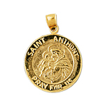 14k gold saint anthony charm