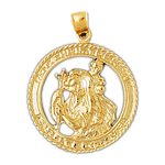 14k gold st. christopher medallion