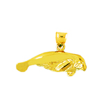 14 kt gold manatee charm