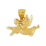 14k gold flying angel charm