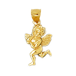14k gold 3d cherub angel charm