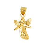 14k gold angel figure charm