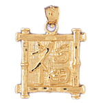 14kt gold luck chinese symbol charm