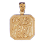 14k gold rich chinese sign charm