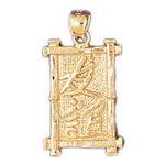 14kt gold friendship chinese symbol charm