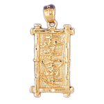 14k gold good luck chinese sign charm