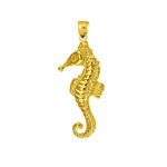 14 kt gold seahorse charm