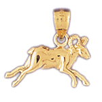 14k gold zodiac aries charm