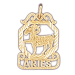 14k gold aries zodiac charm
