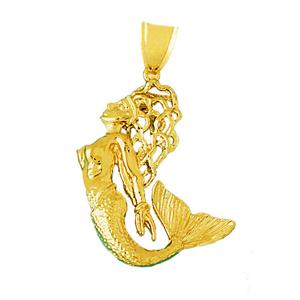 14k gold mermaid pendant aloadofball Choice Image