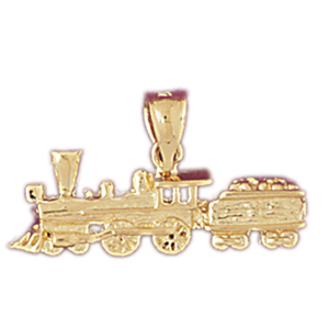 14k gold locomotive train with cargo pendant
