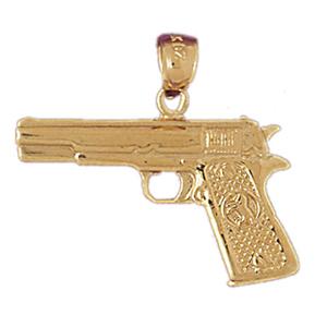 14k gold colt 45 gun pendant aloadofball Gallery
