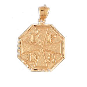 14kt gold ifda fire department pendant