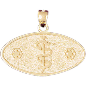 14k gold star of life medical id pendant