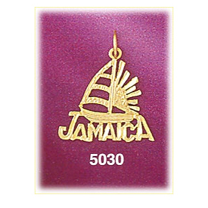 14k gold jamaica sailboat sunset charm