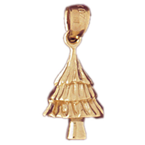 14k gold christmas tree charm