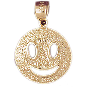 14kt gold happy face charm