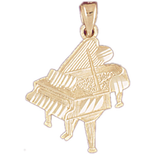 14kt gold piano pendant