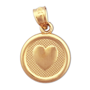 14k gold seven wishes love charm