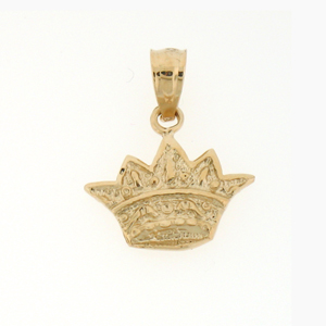 14kt gold crown charm