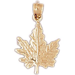14kt gold maple leaf charm